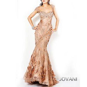 Jovani Evening Gown Cafe Color